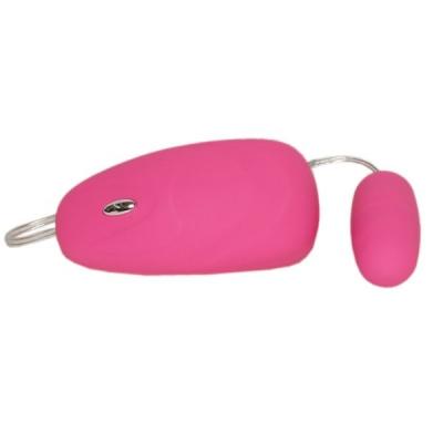 Розовое бархатистое виброяичко с пультом