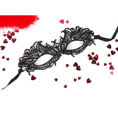 """МАСКА АЖУРНАЯ """"ЭМИЛИЯ"""" цвет чёрный, текстиль арт. EE-20370"""