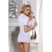 OS Костюм медсестры Candy Girl (платье, стринги, головной убор, стетоскоп), белый