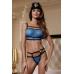 Костюм полицейского Candy Girl (топ, стринги, головной убор, 2 значка), голубой, OS