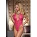 Эротическое боди с доступом сзади Candy Girl, кружевное, розовое, OS