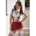 Костюм школьницы SoftLine Collection Kiki (топ и юбка), красно-белый, S/M