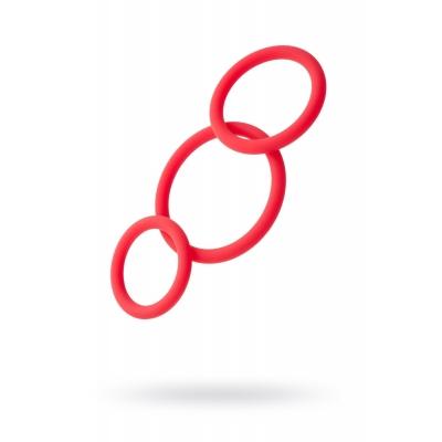 Набор эрекционных колец TOYFA Black&Red, Силикон, Красный, Ø6/5/4 см