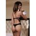 OS Костюм официантки Candy Girl (боди, воротник, манжеты), чёрно-белый