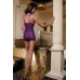 Комбинация Candy Girl с фигурным декольте и стринги, фиолетовые, OS