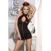Костюм медсестры Candy Girl (платье, стринги, головной убор), черный, OS