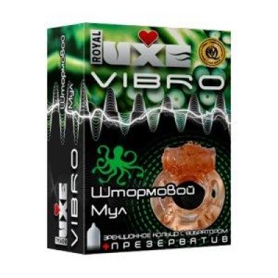 Luxe VIBRO Виброкольцо + презерватив Штормовой Мул 1шт.