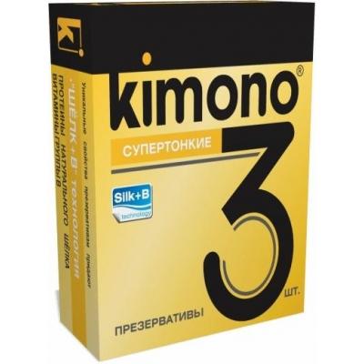 Презервативы KIMONO Супертонкие 3 шт